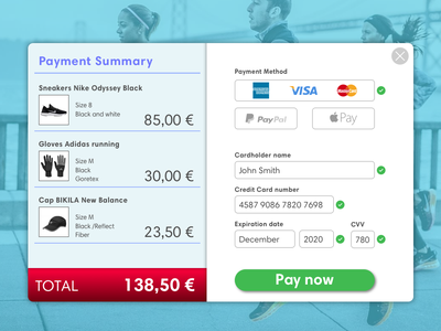 Credit Card Checkout web uxdesign ux ui uidesign credit card checkout daily ui 002