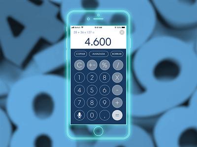 Calculator app calculator uxdesign uidesign ux ui daily ui 004