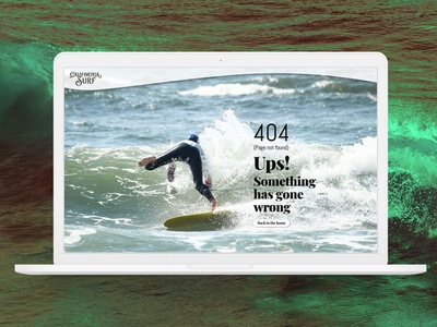 404 Page surf 404 page daily ui 008 web uidesign uxdesign ux ui