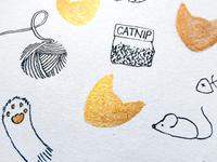 Cat themed art piece
