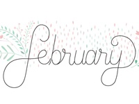 February lettering and illustration