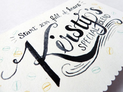Hand Painted Watercolour Lettering for Client Cards watercolour watercolor painting lettering type typography design illustration hand lettering