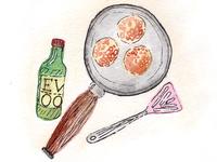Watercolour Recipe Illustration