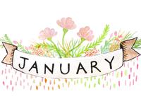 January Printable Calendar Illustration