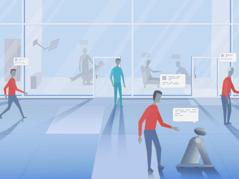 Clinic healthcare app healthcare design illustration animation