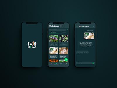 Dark Mode UI for Gardeners Social Media App community app social media app design ui ios dark theme ui night mode dark ui dark theme dark mode