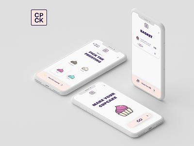 Cupcake Store Mobile App Concept app design ui shop mobile app mobile ui day012 dailyuichallenge
