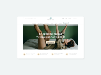The High Keys Redesign canada online store e-commerce medical cannabis cannabis ux design user experience ui