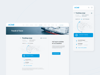Cargo Shipment Tracking Feature process uiux shipment tracking shipping shipping management tracking app cargo ux design ui design ui