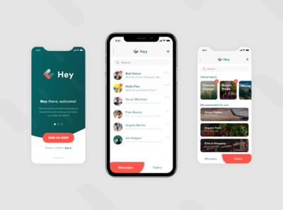 Hey! - Chat App Mockup