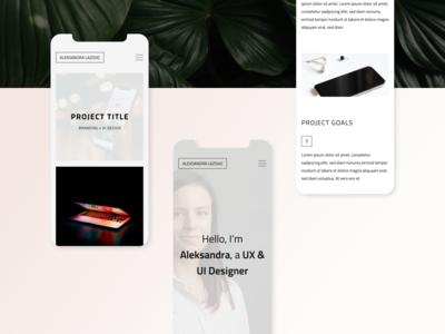 UX Designer Professional Portfolio