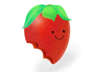 The strawberry bitten