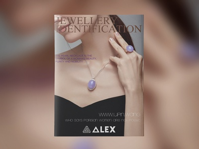 Jewelry appreciation magazine cover design