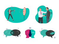 Illustrations for e-learning site