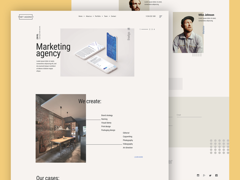 Marketing agency site design landing page homepage design web website site marketing agency marketing