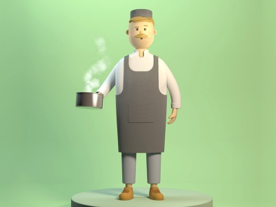 3d character concept kitchen character c4d