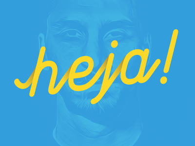 Heja hejo zlatan typography