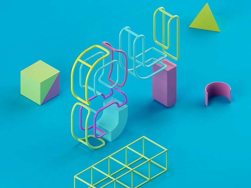 84 lettering vray isometric c4d