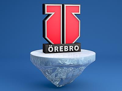 3d logo for Swedish hockey team ice shl cinema4d 3d
