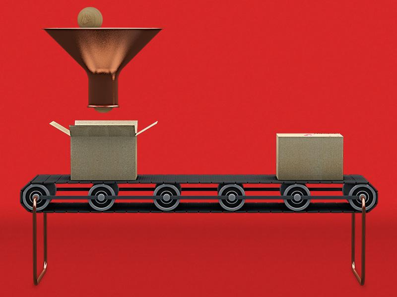 Christmas idea for customer conveyer christmas c4d