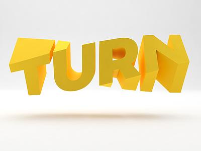 Turn it fun yellow c4d