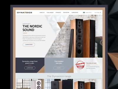 Audio e-commerce webdesign ui