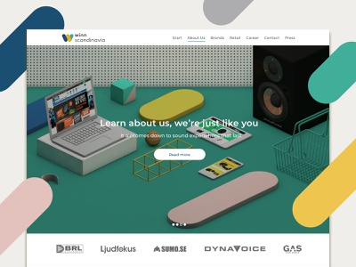 Group web branding ui design 3d c4d