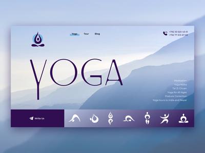 Home page for Yoga Studio