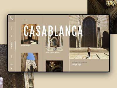 Casablanca design minimal website web icon clean branding brand typography ux logo graphic design design illustration animation