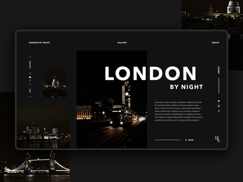 London by night design 🌘 flat website minimal design web typography ux ui illustration graphic design