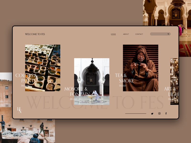 Welcome to Fes | Design | MOROCCO✌🏽 brand animation website web ux typography minimal illustration graphic design design