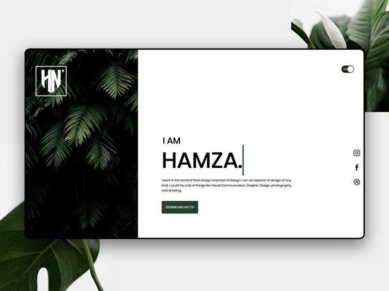 Design V-Card 🌴 brand animation ux website web typography minimal illustration graphic design design