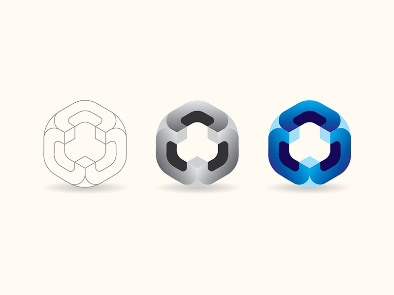 Smooth Cube icon vector logo design