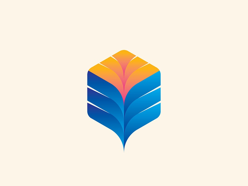 Feather Logo icon logo vector design