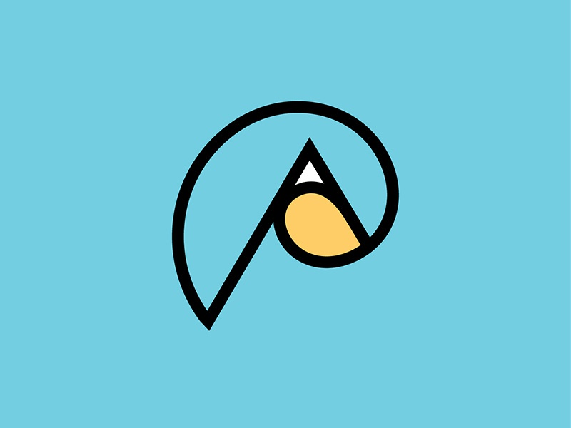 Art Peak icon logo vector design