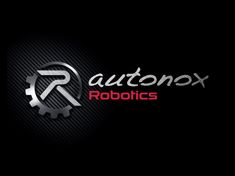 Logo design for autonox Robotics typography icon logo vector design