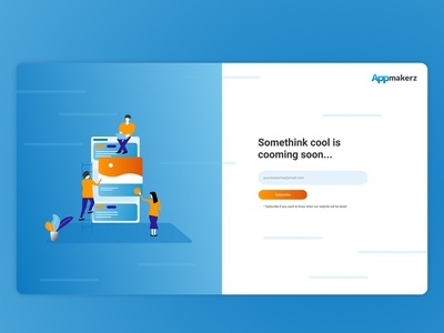 Coming Soon Page Appmakerz design vector ui figma illistration