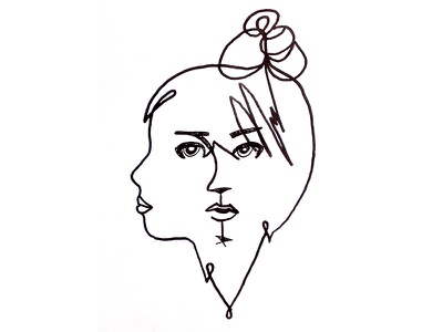 Chloe Martini logo visual face profil head music line