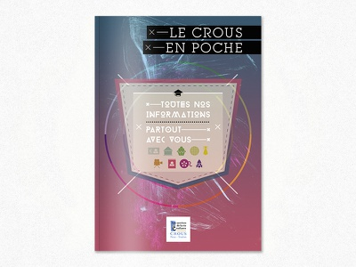 Le Crous en poche booklet brochure edition print student crous pocket blue picto icons cover