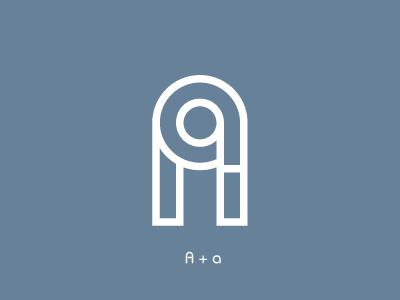 A monogram outlines monogram letter identity typography logo