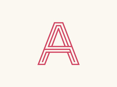 A identity a outlines monogram letter typography logo