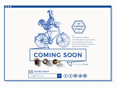Coming soon illustration food ecommerce shop website page landing web aux comptoirs de france acdf
