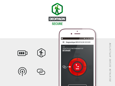 Decathlon Secure app ux ui mountain mobile flat dashboard application