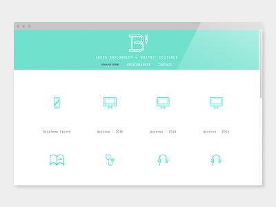 Personal rebranding logo pictogramme graphisme website branding webdesign
