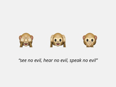 The three wise monkeys of design critique on Medium