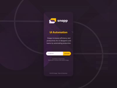 SnappUI susbcription page