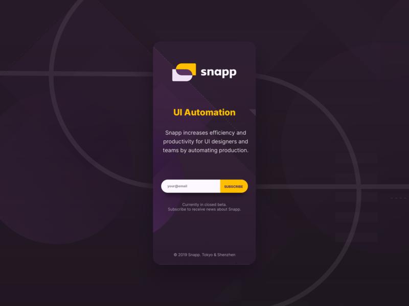 SnappUI susbcription page light mode dark mode sketch plugin macos application tool design tool website subscription web design ui simple shapes