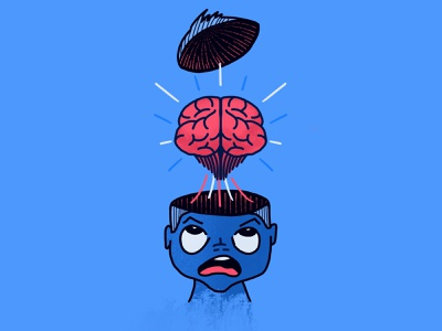Mind blown procreate mind brain kid drawing illustration