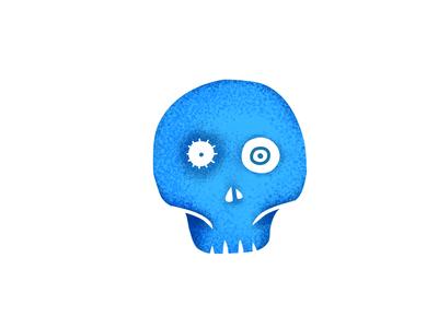simplified version pencil ipad procreate drawing illustration skull