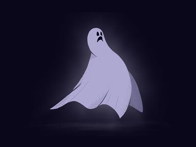 Ghost pencil ipad procreate drawing ghost illustration